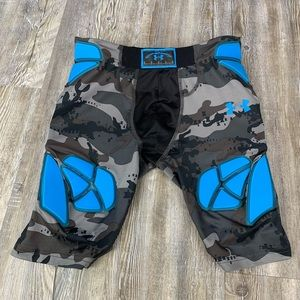 Under Armour Padded Compression Gray Camo Shorts